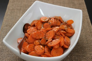 {Thanksgiving Side Dish} Honey Mustard Glazed Carrots