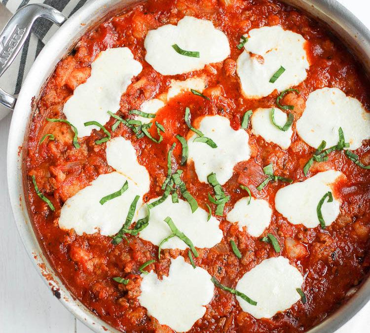 Italian Sausage & Cauliflower Bake