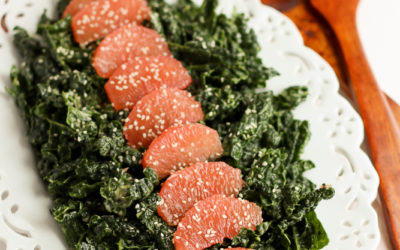 Kale & Grapefruit Salad with Creamy Lemon Tahini Dressing