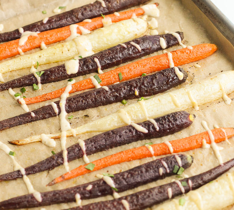 Roasted Carrots with Creamy Citrus Drizzle