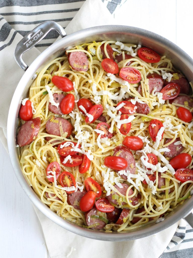 Pasta with Leeks and Sausage
